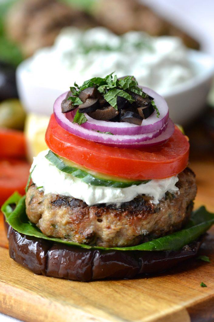 Greek Lamb Burgers