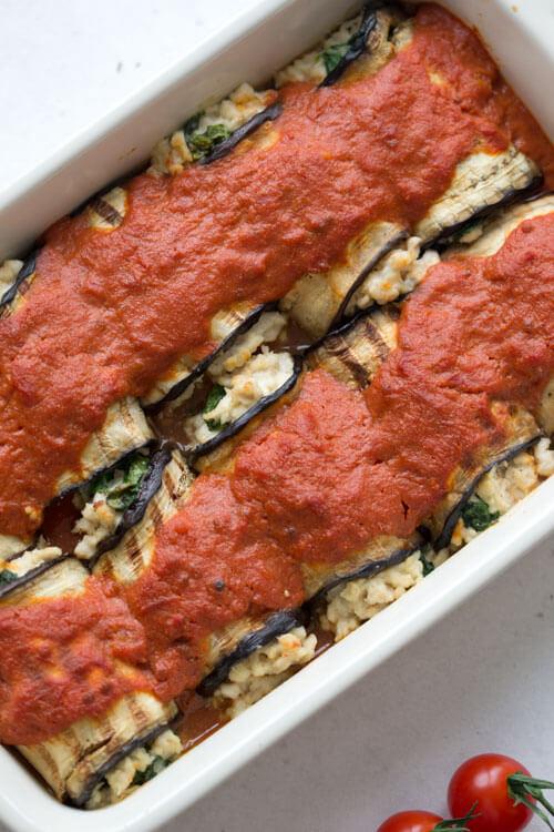 Creamy Chicken & Spinach Cannelloni