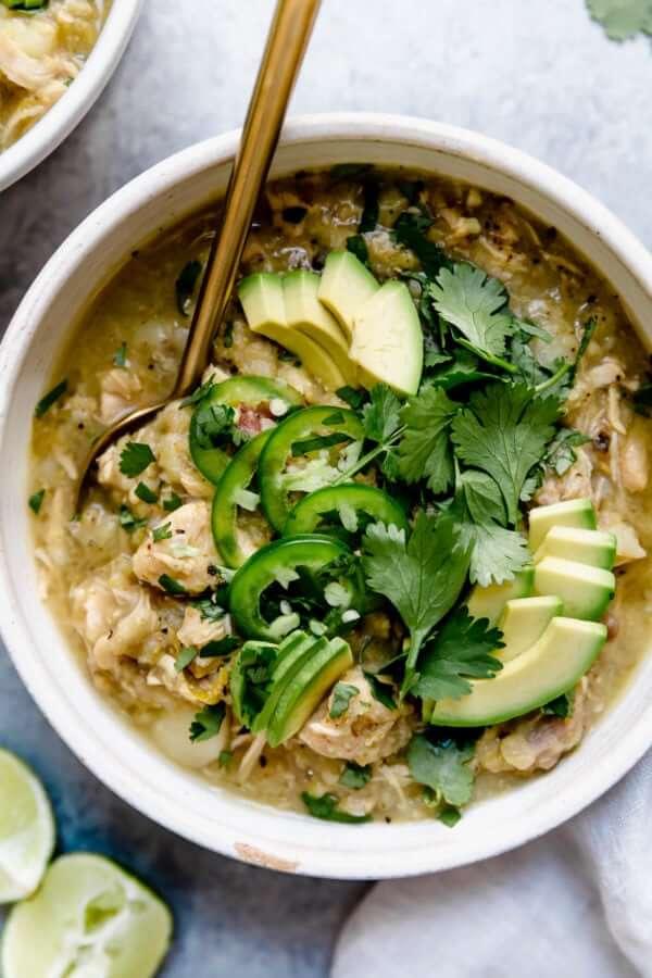 Slow Cooker Chicken Chile Verde Stew