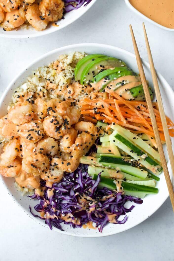 Dynamite Shrimp Sushi Bowls
