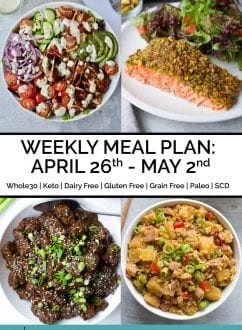 Weekly Meal Plan: April 26th – May 2nd