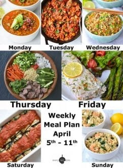 Weekly Meal Plan: April 5th - 11th