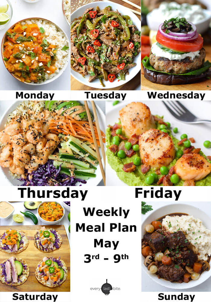 Weekly Meal Plan: May 3rd - 9th
