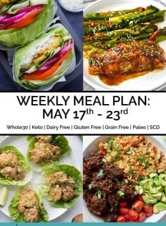 Weekly Meal Plan: May 17th - 23rd