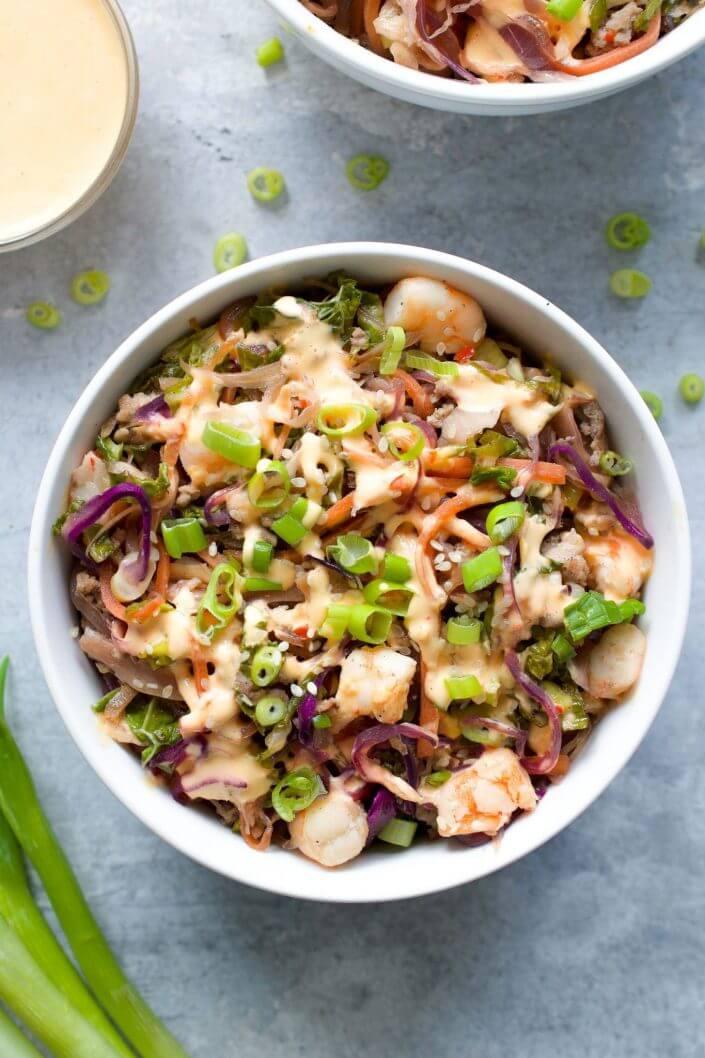 Pork & Shrimp Egg Roll in a Bowl