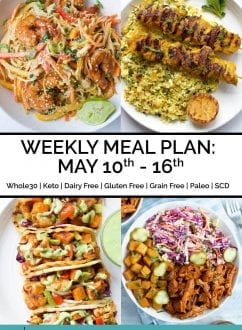 Weekly Meal Plan: May 10th - 16th