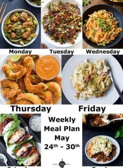 Weekly Meal Plan: May 24th - 30th