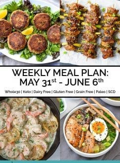 Weekly Meal Plan: May 31st - June 6th