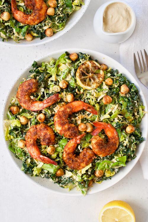 Cajun Shrimp Caesar Salad