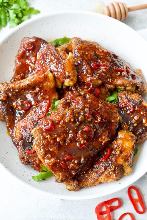 Spicy Honey Un-fried Chicken