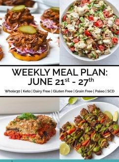 Weekly Meal Plan June 21st - 27th