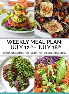 Weekly Meal Plan: July 12th - July 18th