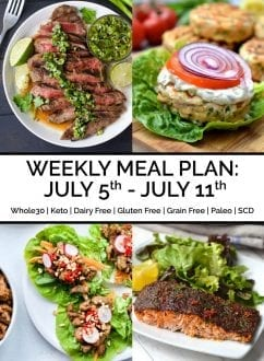 Weekly Meal Plan: July 5th - July 11th