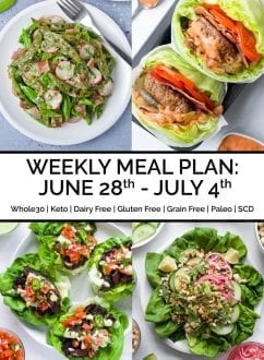 Weekly Meal Plan: June 28th - July 4th