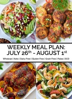 Weekly Meal Plan: July 26th - August 1st